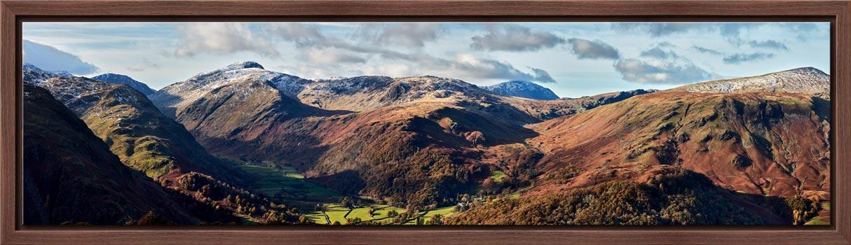 Borrowdale Mountains Panorama - Modern Print