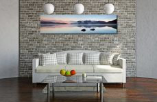 A New Day Dawns at Derwent Water - Print Aluminium Backing With Acrylic Glazing on Wall