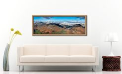 Glenridding Panorama - Oak floater frame with acrylic glazing on Wall