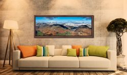 Glenridding Panorama - Walnut floater frame with acrylic glazing on Wall