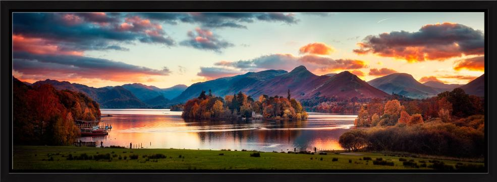 Derwent Water at Dusk - Modern Print