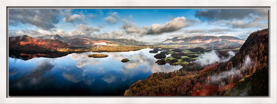 Derwent Water Morning Mists - Modern Print