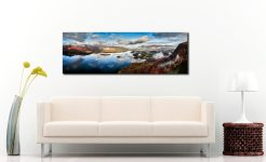 Derwent Water Morning Mists - Print Aluminium Backing With Acrylic Glazing on Wall