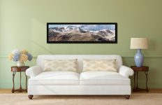 Helvellyn Mountains Panorama - Black oak floater frame with acrylic glazing on Wall