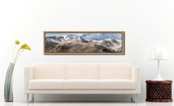 Helvellyn Mountains Panorama - Oak floater frame with acrylic glazing on Wall