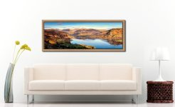 Morning Light on Ullswater - Oak floater frame with acrylic glazing on Wall