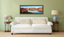 Morning Light on Ullswater - Walnut floater frame with acrylic glazing on Wall