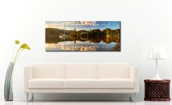 Brandelhow Point Reflections - Print Aluminium Backing With Acrylic Glazing on Wall