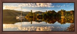 Brandelhow Point Reflections - Walnut floater frame with acrylic glazing