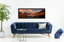 Dusk at Wast Water - Black oak floater frame with acrylic glazing on Wall