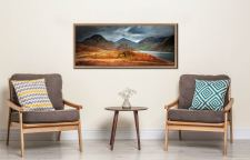 Darkness and Light at Wast Water - Oak floater frame with acrylic glazing on Wall