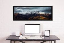 Snow Capped Skiddaw - Black oak floater frame with acrylic glazing on Wall