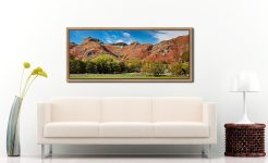 Dungeon Ghyll Panorama - Oak floater frame with acrylic glazing on Wall