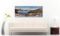 Grasmere Winter Panorama - Print Aluminium Backing With Acrylic Glazing on Wall