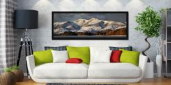 Skiddaw Winter Panorama - Black oak floater frame with acrylic glazing on Wall