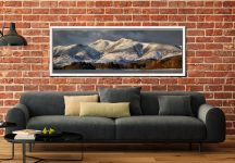 Skiddaw Winter Panorama - White Maple floater frame with acrylic glazing on Wall