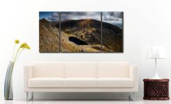 Goats Water and Coniston Old Man - 3 Panel Wide Centre Canvas on Wall