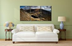 Goats Water and Coniston Old Man - 3 Panel Canvas on Wall