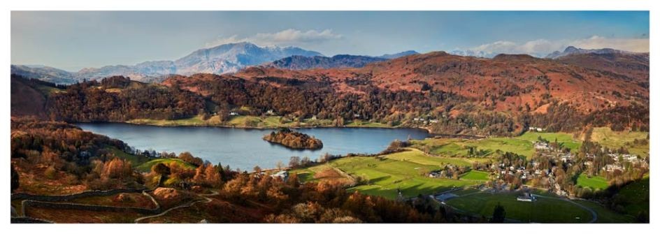 Grasmere Village and Lake - Lake District Print