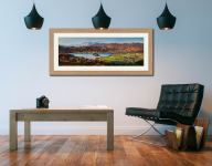Grasmere Village and Lake - Framed Print with Mount on Wall
