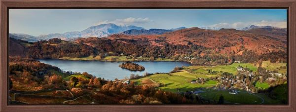 Grasmere Village and Lake - Modern Print