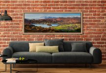 Grasmere Village and Lake - Oak floater frame with acrylic glazing on Wall