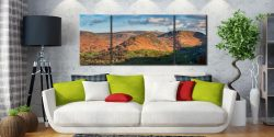 Helm Crag - 3 Panel Wide Mid Canvas on Wall