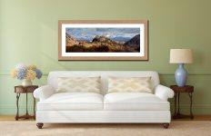 Castle Crag and Snowy Skiddaw - Framed Print with Mount on Wall