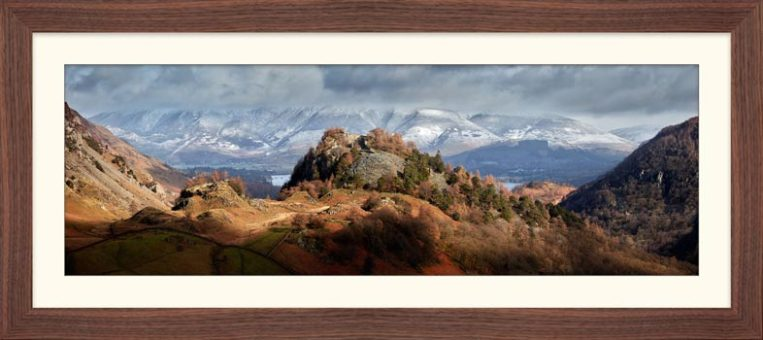 Castle Crag and Snowy Skiddaw - Framed Print