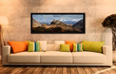 Castle Crag and Snowy Skiddaw - Black oak floater frame with acrylic glazing on Wall