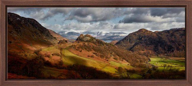 Castle Crag Winter Sunshine - Modern Print