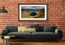 Red Tarn - Framed Print with Mount on Wall