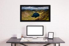 Red Tarn - Black oak floater frame with acrylic glazing on Wall