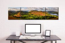 Hallin Fell Panorama - 3 Panel Wide Centre Canvas on Wall