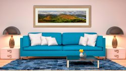 Hallin Fell Panorama - Framed Print with Mount on Wall