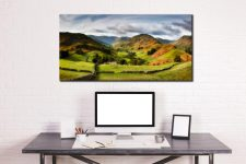 Green Fields of Martindale - Canvas Print on Wall