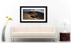 Goats Water and Coniston Old Man - Framed Print with Mount on Wall