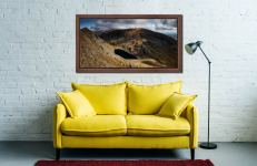 Goats Water and Coniston Old Man - Walnut floater frame with acrylic glazing on Wall