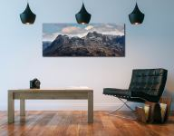 Late Snow on Langdale Pikes - Print Aluminium Backing With Acrylic Glazing on Wall