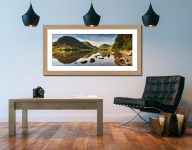 Brothers Water Reflections - Framed Print with Mount on Wall