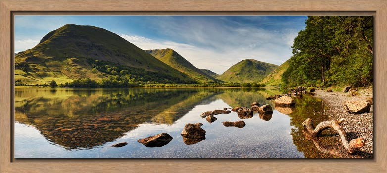 Brothers Water Reflections - Modern Print