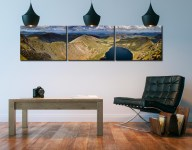 Swirral Edge to Striding Edge - 3 Panel Canvas on Wall