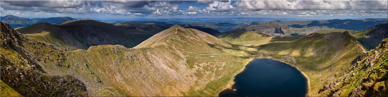 Swirral Edge to Striding Edge - Canvas Prints