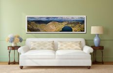 Swirral Edge to Striding Edge - White Maple floater frame with acrylic glazing on Wall