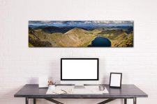 Swirral Edge to Striding Edge - Print Aluminium Backing With Acrylic Glazing on Wall