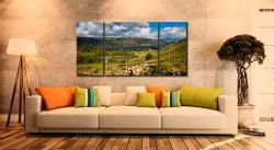 Thirlmere From Path Helvellyn - 3 Panel Wide Centre Canvas on Wall