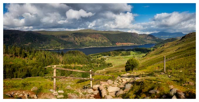 Thirlmere From Path to Helvellyn - Lake District Print