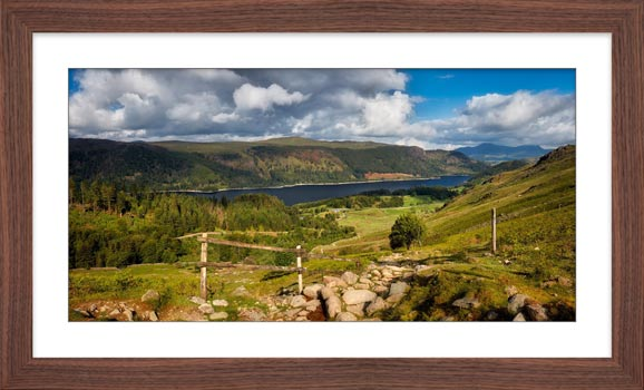 Thirlmere From Path to Helvellyn - Framed Print