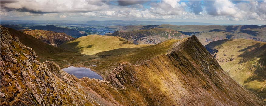 Striding Edge Panorama - Canvas Print