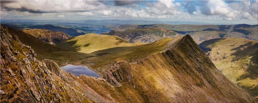 Striding Edge Panorama - Lake District Canvas